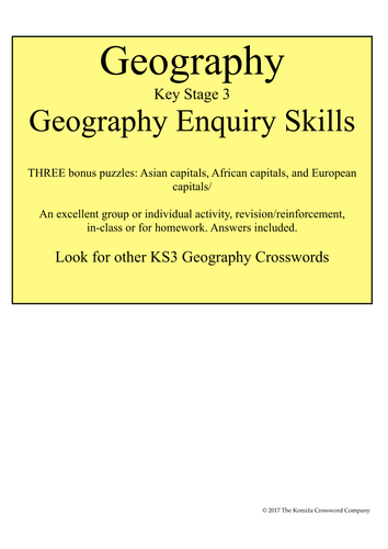 Geography: Geographical Enquiry Skills