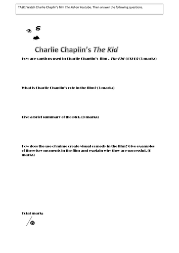 Questions based on Charlie Chaplin's 'The Kid'