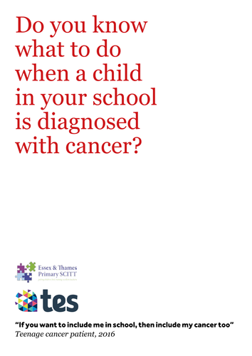 Cancer in Schools, by Jo Palmer-Tweed