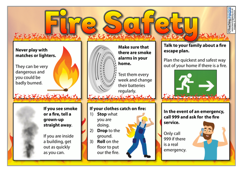 Fire Safety Poster And Activity Template By