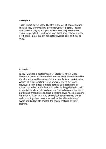 The Globe Theatre Description Writing