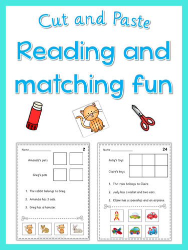 Cut and paste - Reading and matching fun