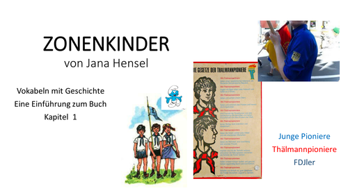 Zonenkinder Introduction (Kapitel 1) AQA Option