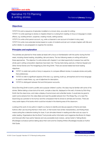 Literacy The Hodgeheg / Ofsted used graded Outstanging Lesson Plan, ppt and additional resources