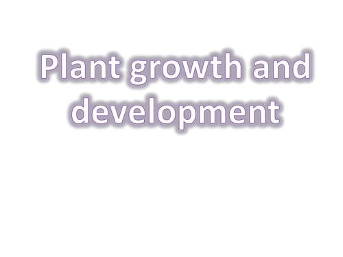 Plant growth and development (auxins)