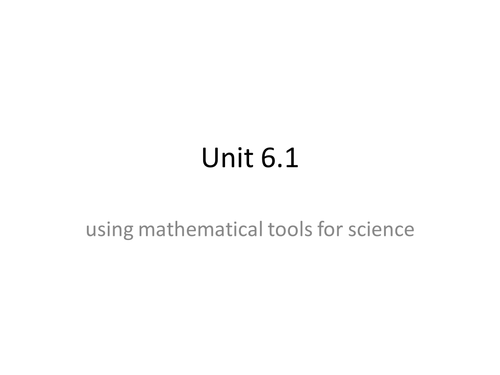 Btec applied science level 3 using mathematical tools in science-numbers