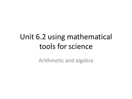 Btec applied science level 3 using algebra in science
