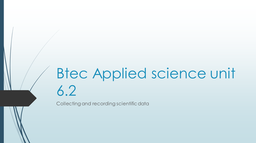 Btec applied science level 3 primary and secondary data