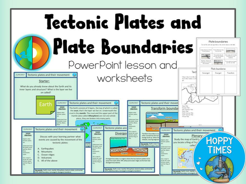 Plate Tectonics and Plate Boundaries Lesson by hoppytimes – Plate Boundaries Worksheet