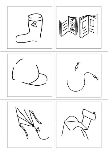Visual cloze exercises.