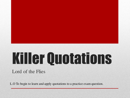 Lord of the Flies Killer Quotations