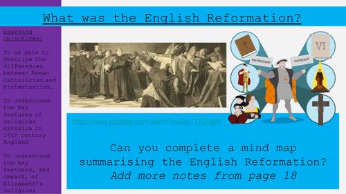 The English Reformation 1.2 (Elizabeth 9-1)