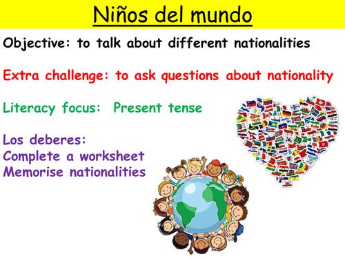 Y9 SPANISH VIVA LOWER ABILITY M4: NIÑOS DEL MUNDO