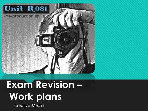 R081 Creative iMedia work plans revision
