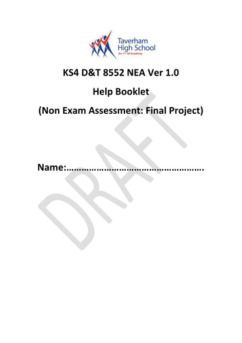 AQA Design & Technology 8552 (9-1) NEA Non-Exam Assessment