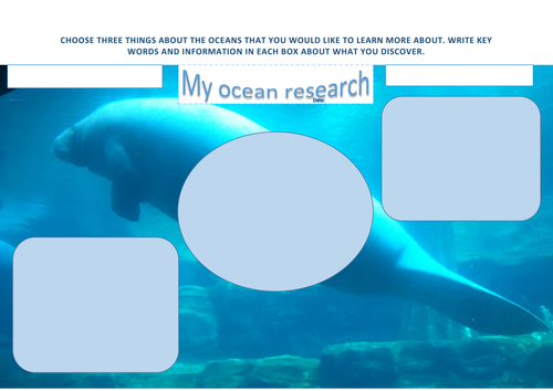 ocean research worksheet our oceans our future manatee
