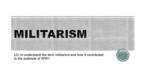 Militarism WW1