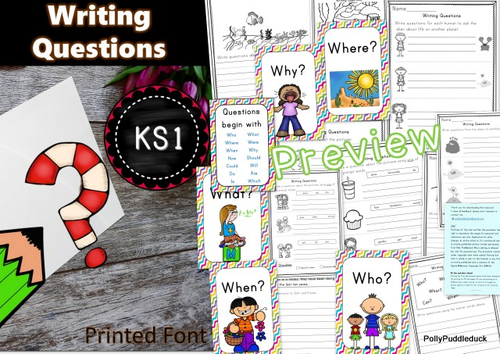 Writing Questions Activity Pack for KS1