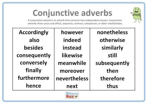 Present Perfect Worksheets by MissJelena Teaching Resources Tes – Conjunctive Adverbs Worksheet