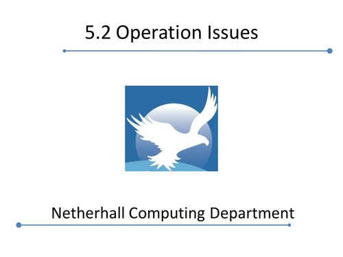 Cambridge Technicals 2016 L3 ICT - Operational Issues