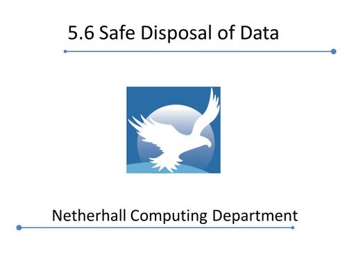 Cambridge Technicals 2016 L3 ICT - Safe Disposal of Data