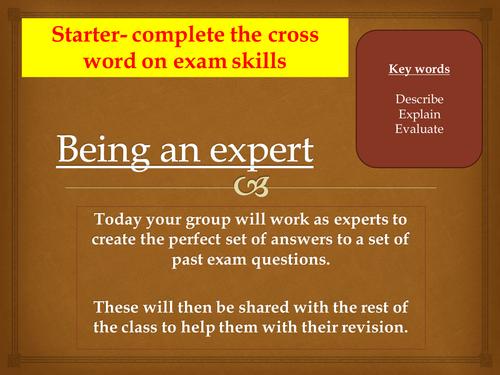 GCSE Ethics exam practice group work