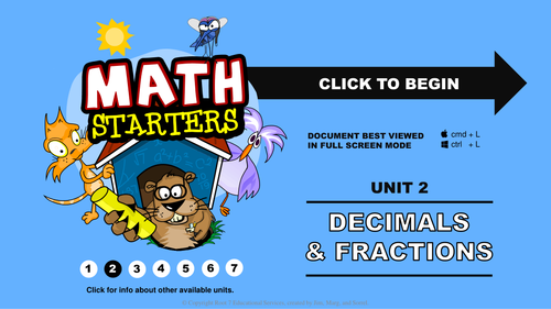 Math Starters - Decimals and Fractions