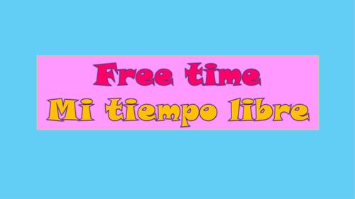 Free time Mi tiempo libre Flowcharts GCSE Spanish New Specification