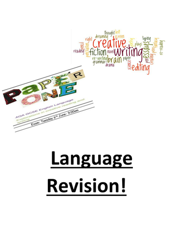English Language Paper 1 Revision Booklet