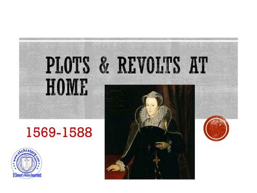 Edexcel 9-1 Elizabeth I - Plots (EDITABLE)