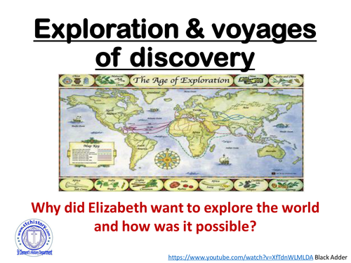 Edexcel 9-1 Elizabeth I - Exploration & The New World (EDITABLE)