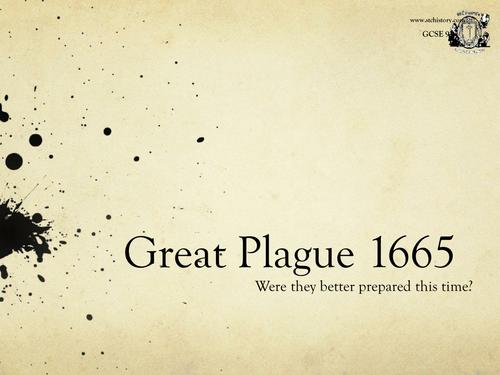 Edexcel 9-1 Medicine Through Time - Great Plague (EDITABLE)