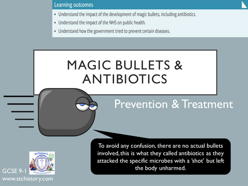 Edexcel 9-1 Medicine Through Time - Magic Bullets (EDITABLE)