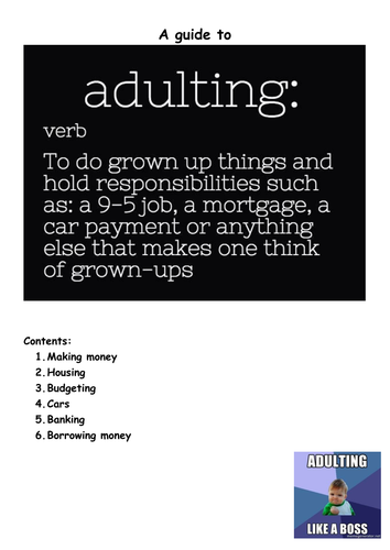 CEIAG/PSHCE: Students guide to adulting