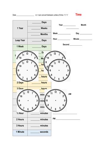 Math - Time: Conversion