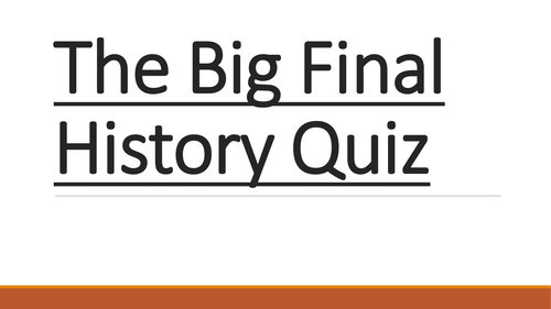GCSE History end of year quiz