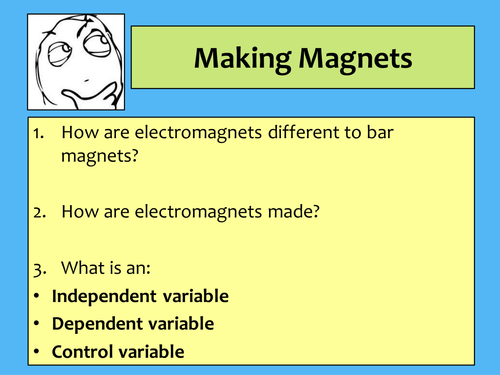 Making a magnet / Revision of Magnets lesson