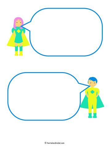 Superhero - Speech bubble templates