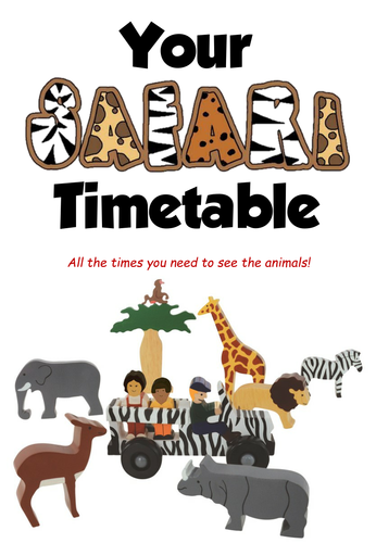 Safari Timetable