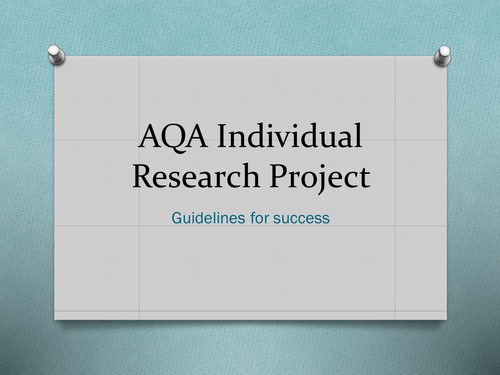 AQA French Individual Research Project Overview