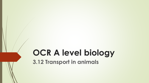 OCR A level biology-transport in animals