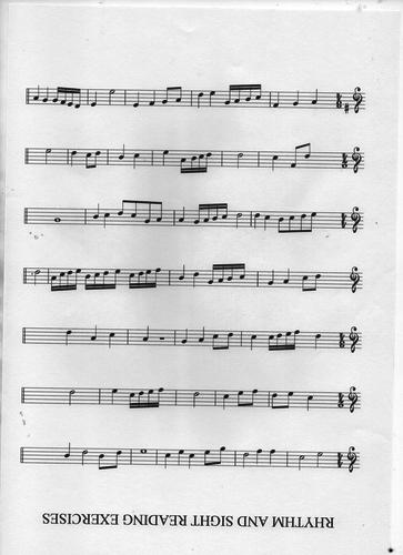 rhythm and sightreading exercises