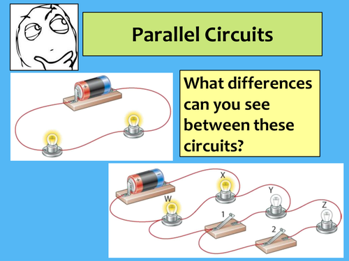 Series and Parallel circuits lesson