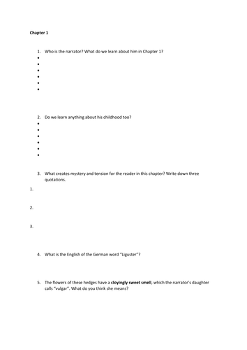 Spies - Chapter 1 worksheet