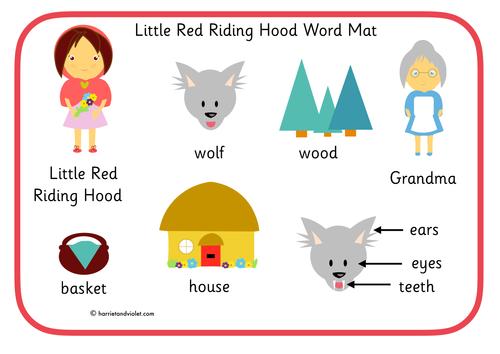Little Red Riding Hood - word mat