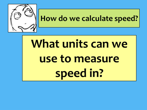 Speed and distance-time graph Lesson - Introduction and calculations