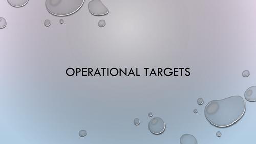 Setting Operational Targets