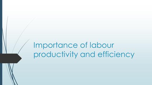 Importance labour productivity