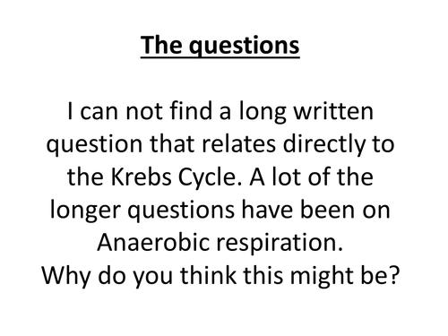 A level Biology Edexcel B every respiration question