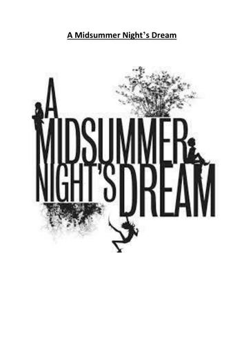 A Midsummer Night's Dream Revison Booklet